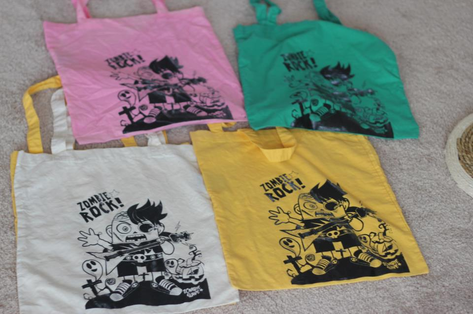Zombie Rock Tote Bags are in!